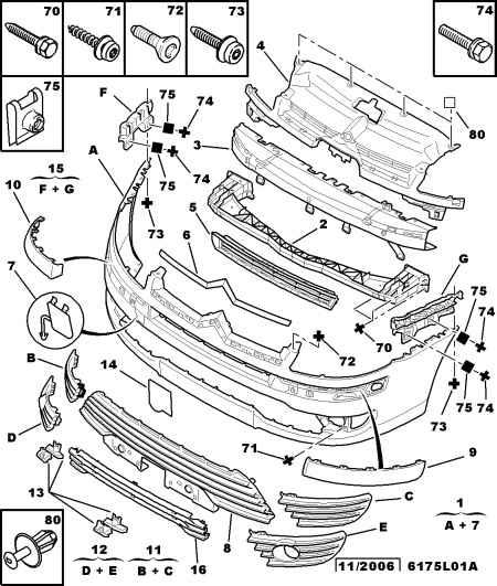 Citroen c3 схема задней фары