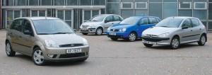 вторичный рынок Citroen C3, Peugeot 206, Ford Fiesta