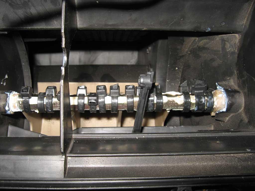 итог ремонта заслонок отопителя