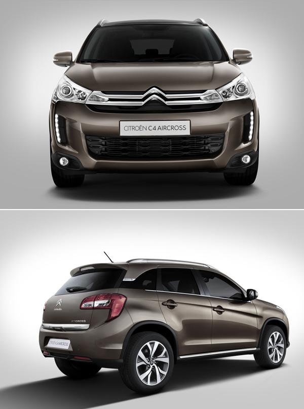 и Mitsubishi ASX и Citroen C4 Aircross очень похожи