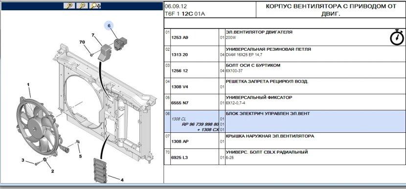 Реле вентилятора малой и большой скорости пежо307 1,6