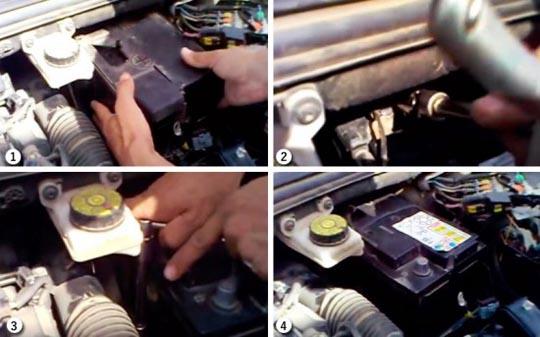 Замена аккумулятора Пежо 308