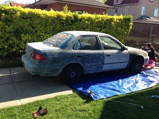 Как покрасить автомобиль на улице