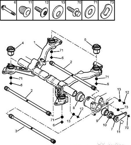 Ремонт задней балки на Peugeot 206