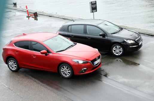 Сравнение Mazda 3 и Peugeot 308