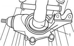 Замена подшипника ступицы переднего колеса Peugeot 307